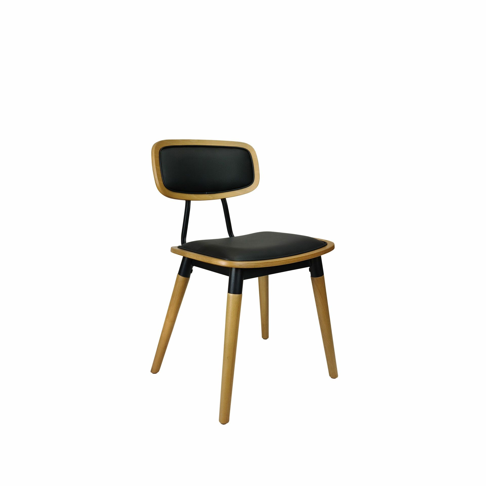felix chair natural black.cushioned front side