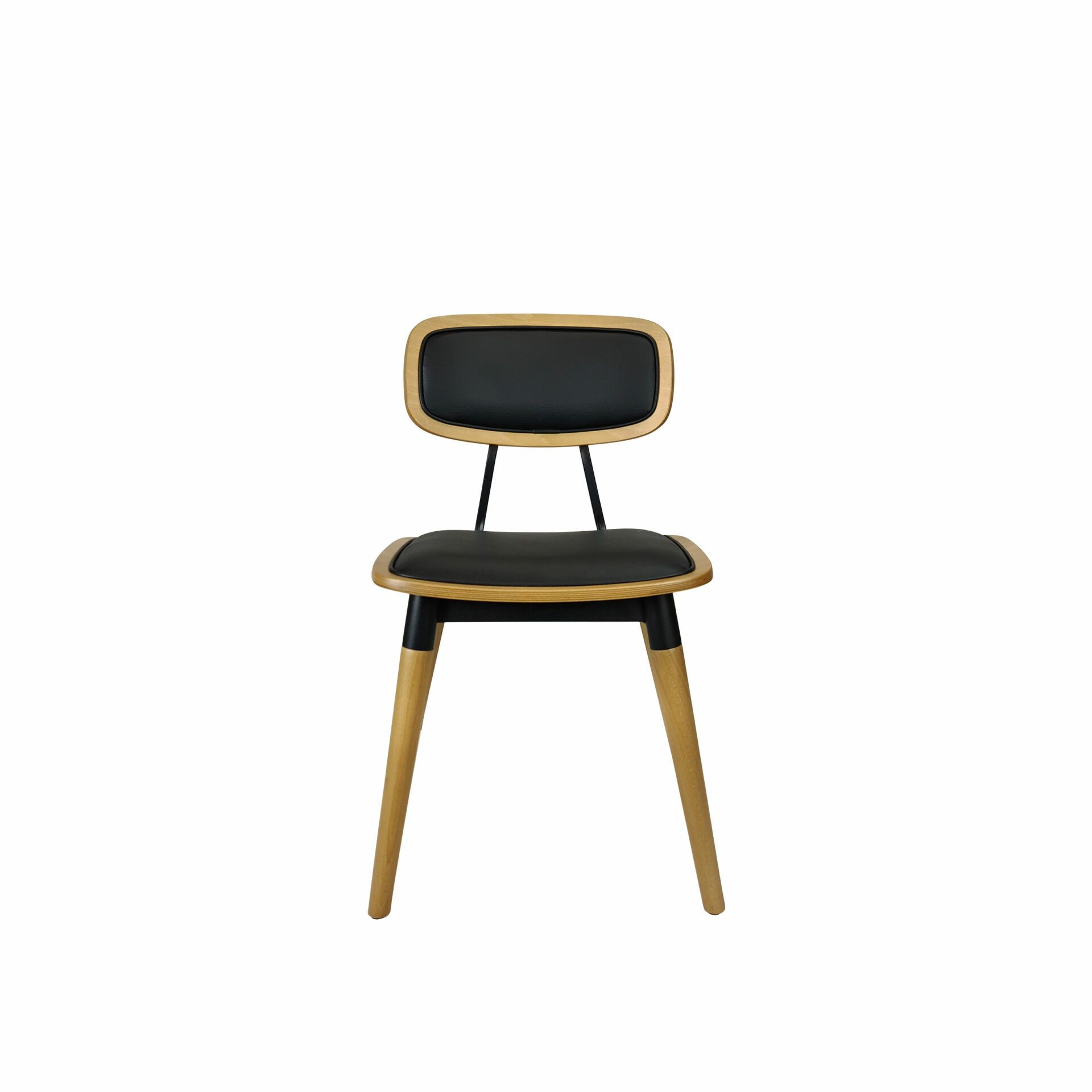 felix chair natural black.cushioned front