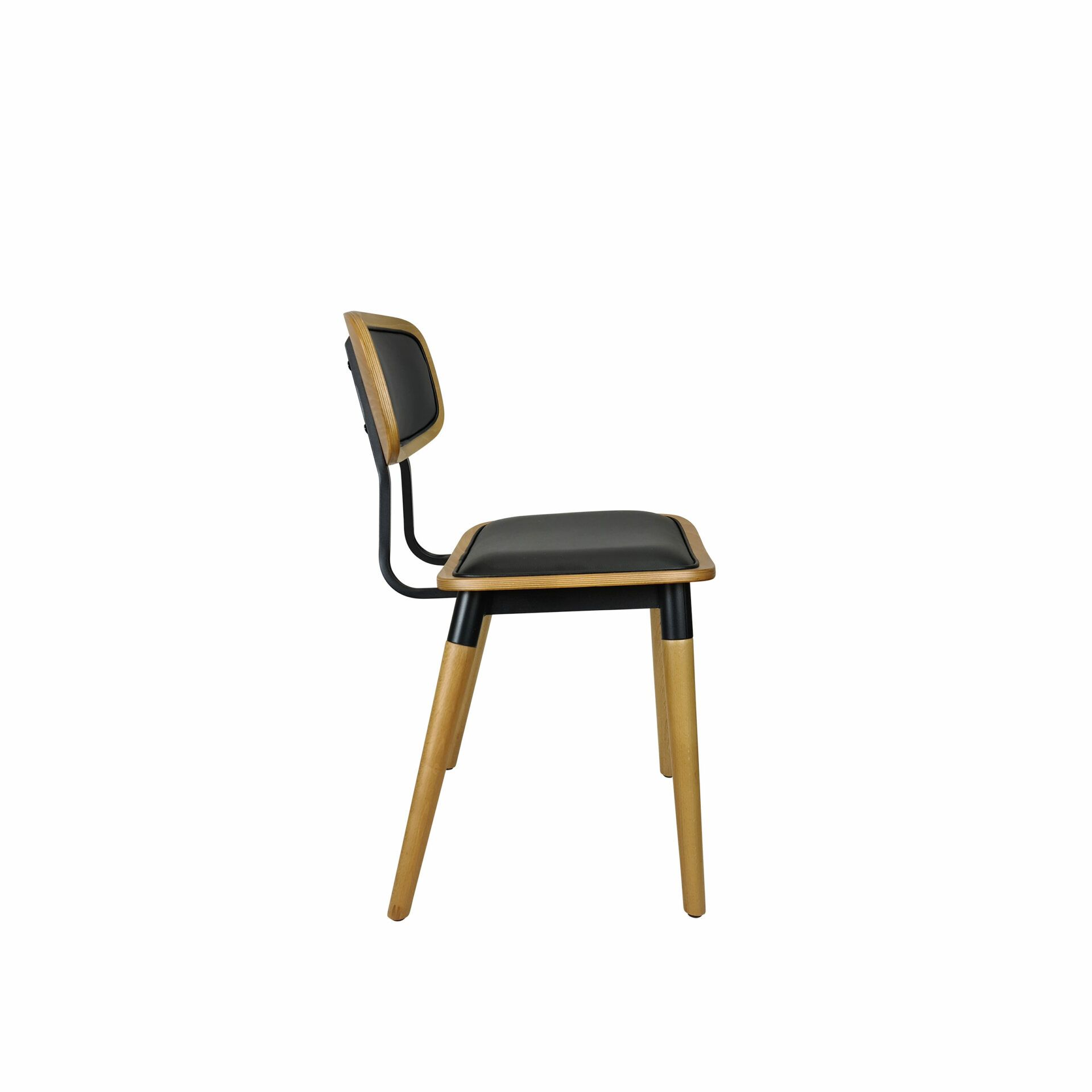 felix chair natural black.cushioned side