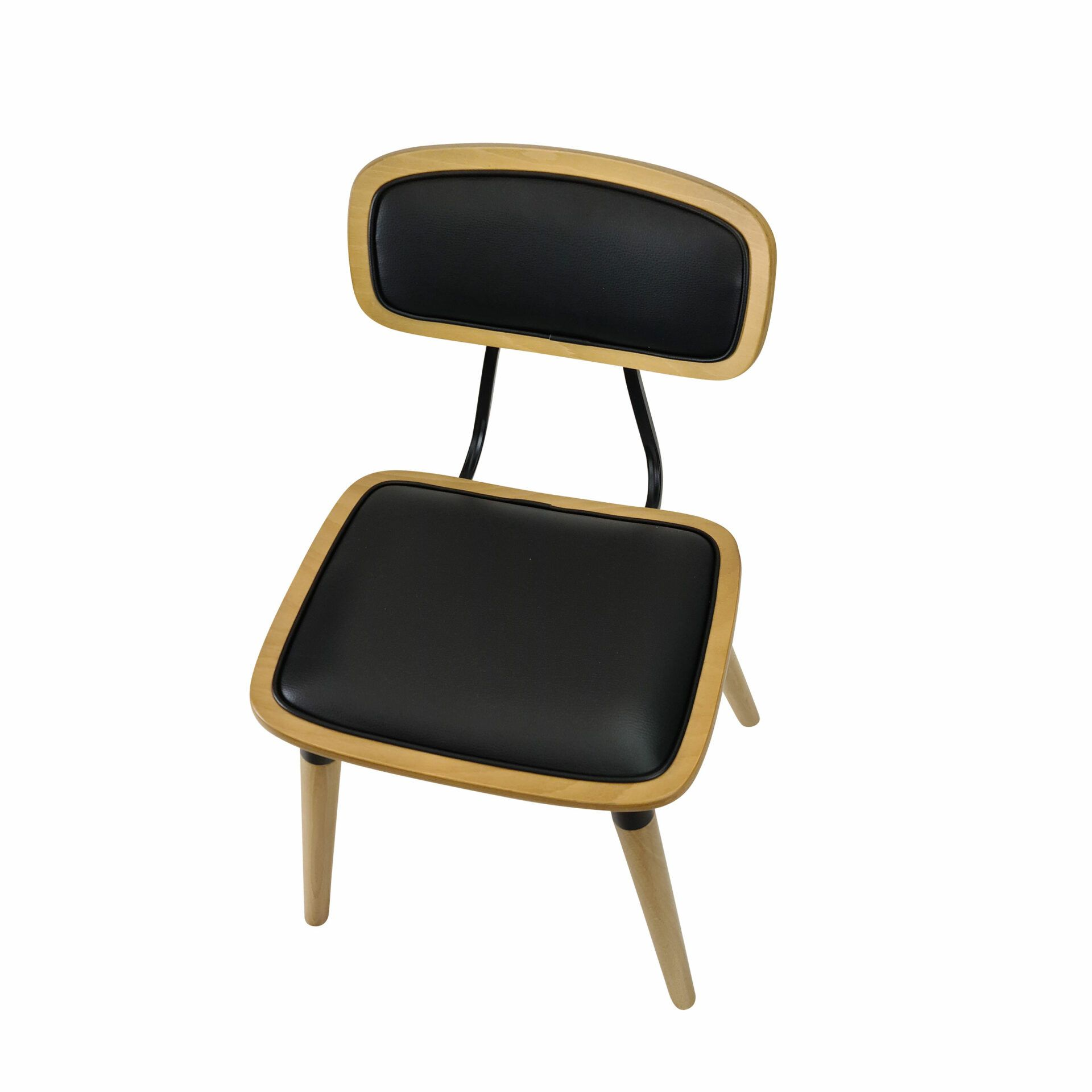 felix chair natural black.cushioned top angle