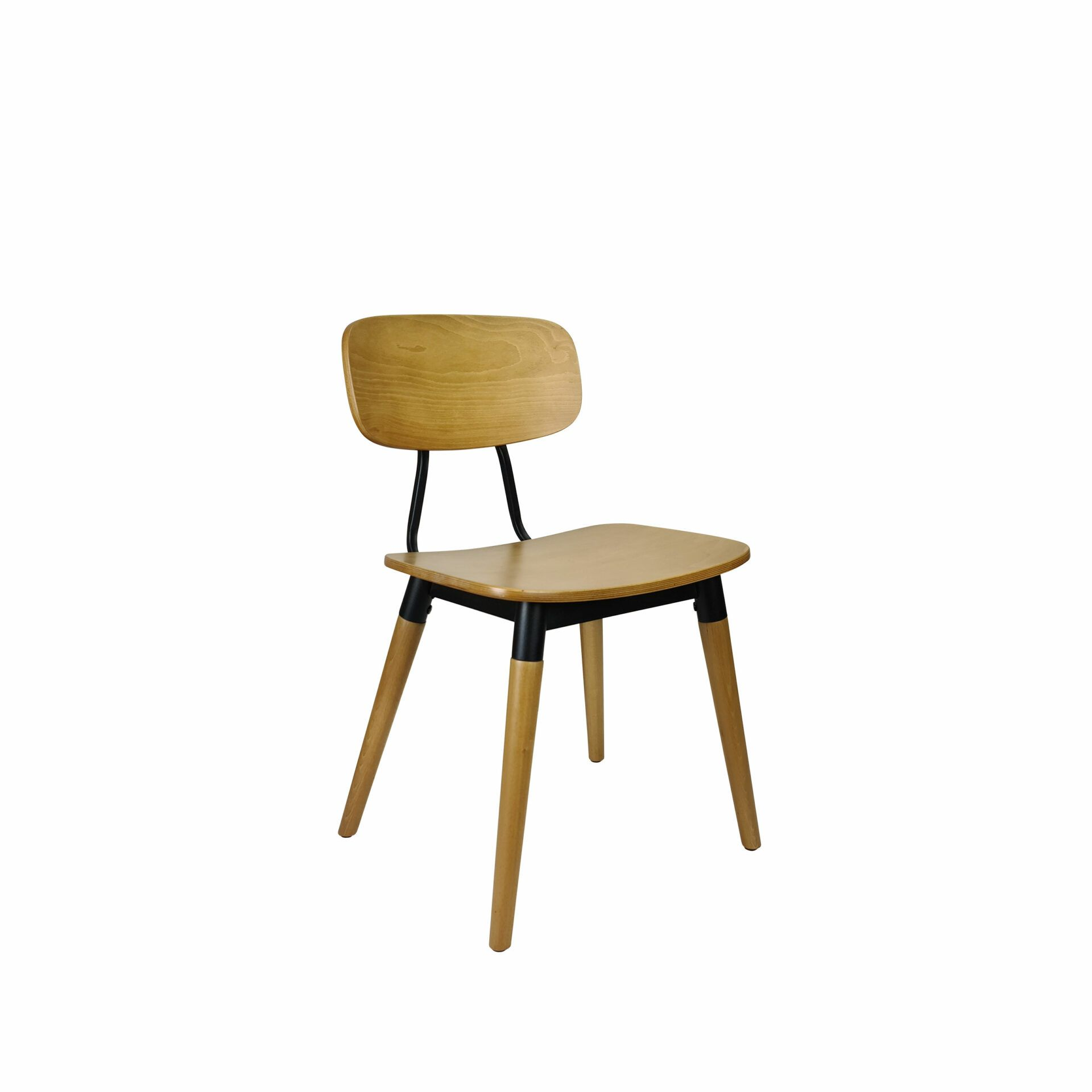 felix chair natural black.front side
