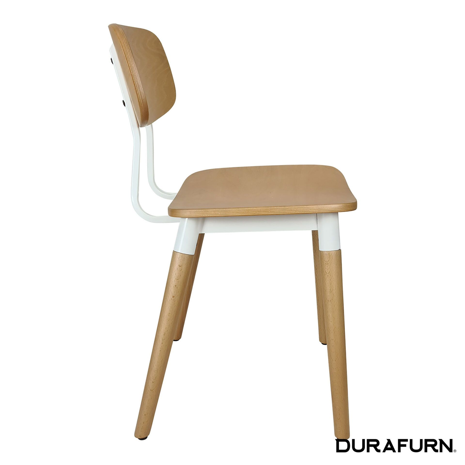 felix chair natural white side