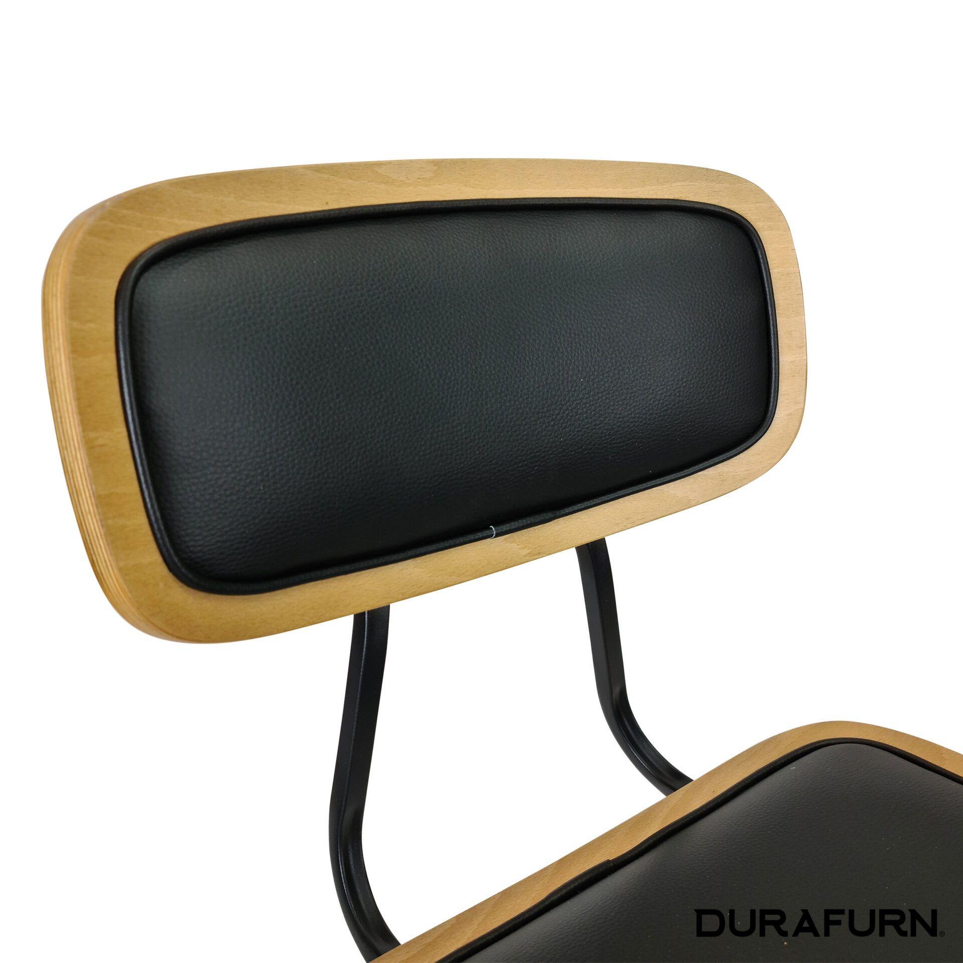 felix chair natural.black cushioned backrest