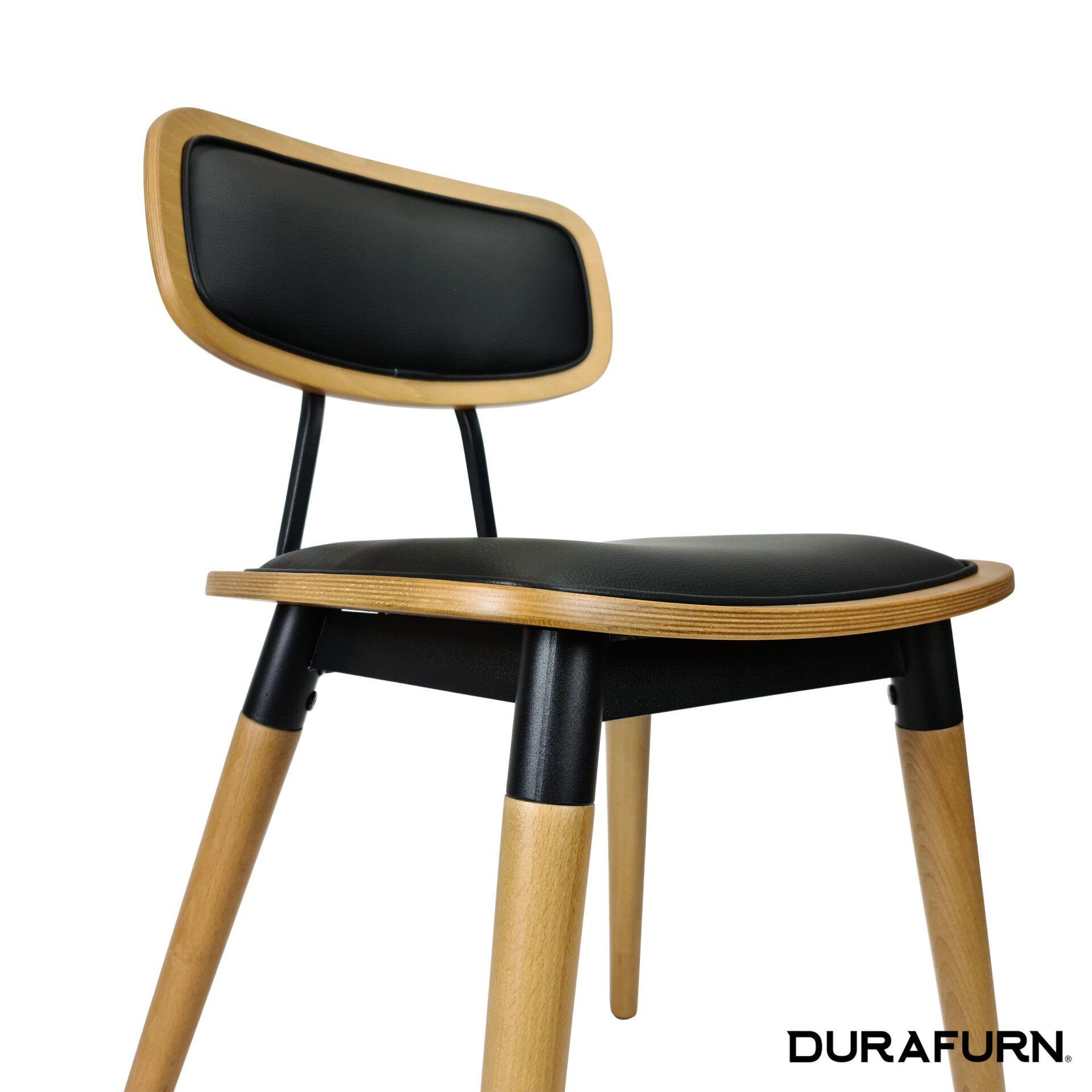 felix chair natural.black cushioned seat