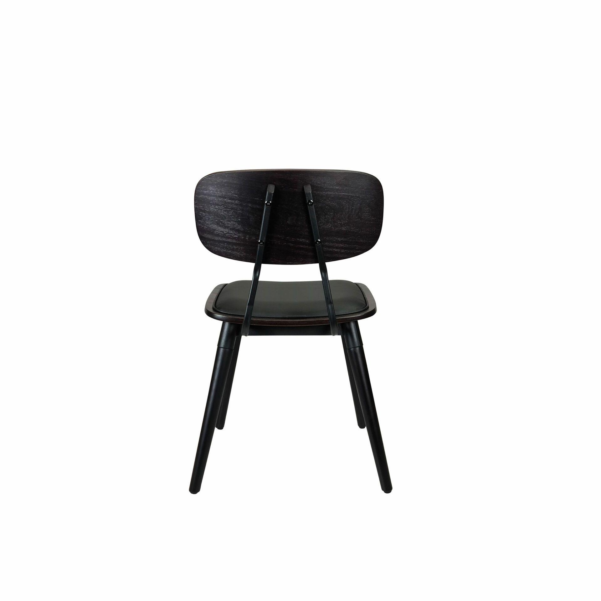 felix chair wenge.black cushioned back