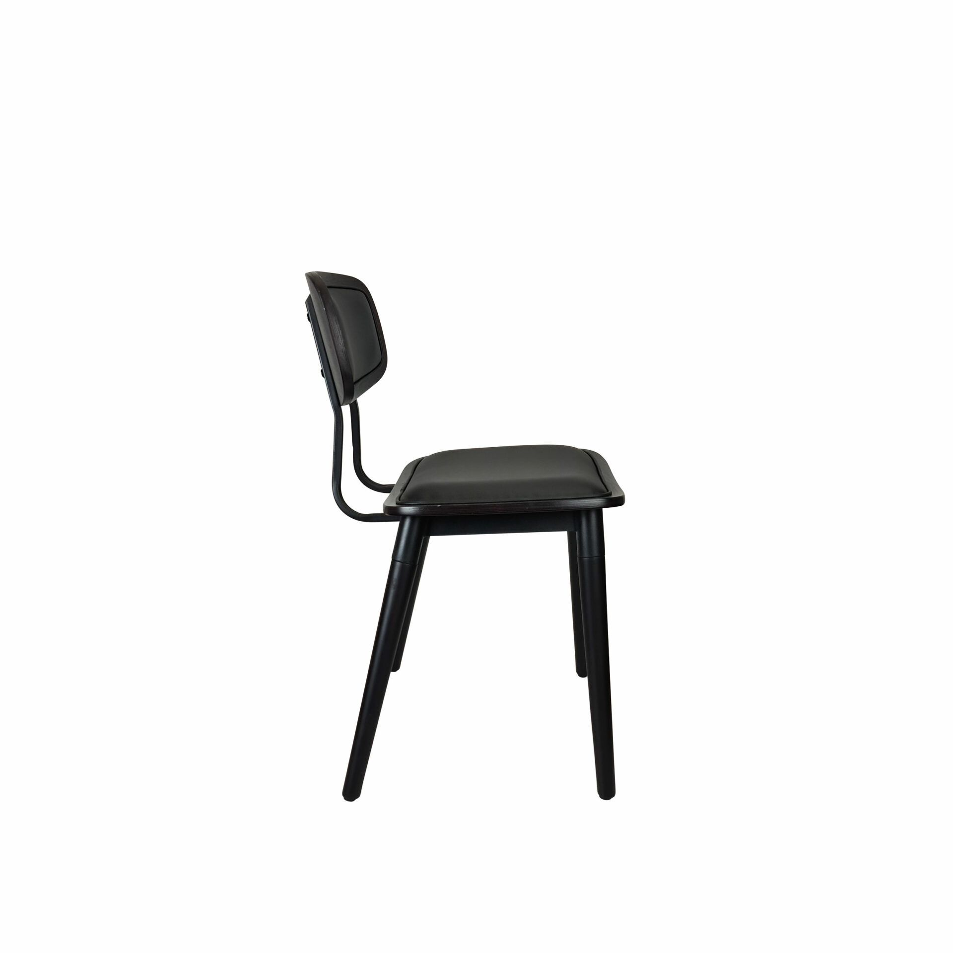 felix chair wenge.black cushioned side