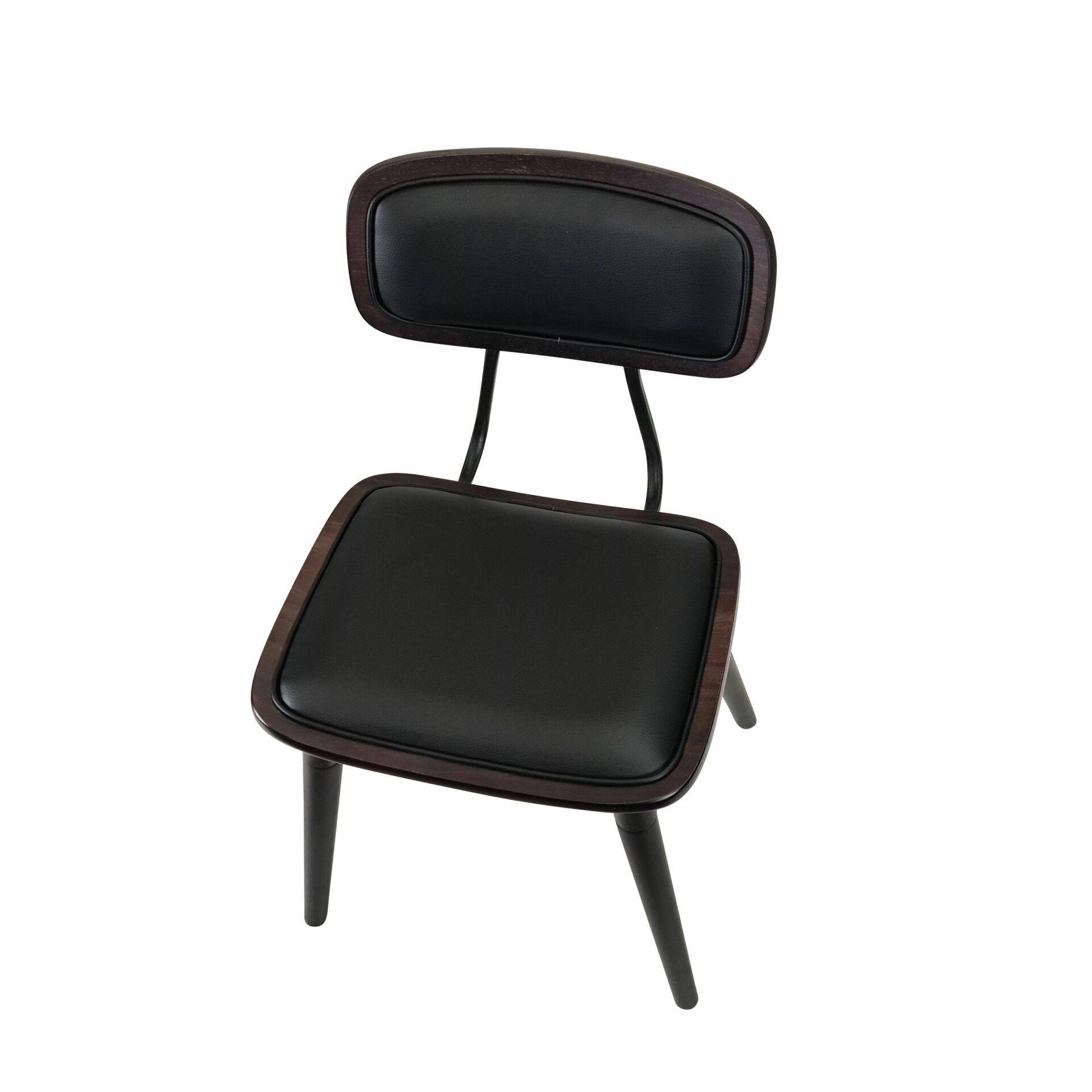 felix chair wenge.black cushioned top angle