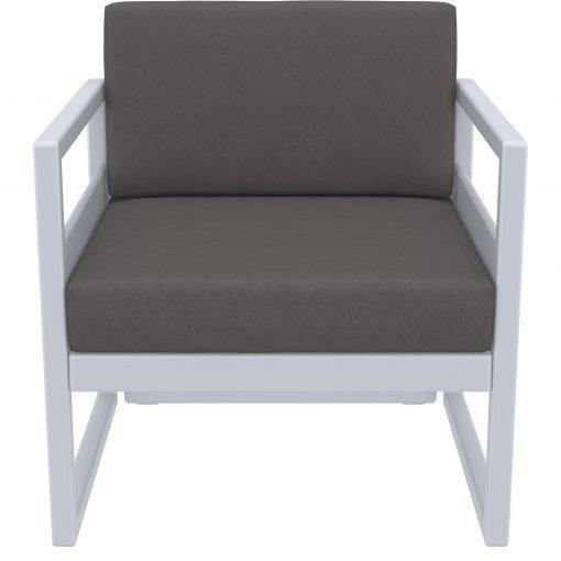 008 ml armchair silvergrey darkgrey front