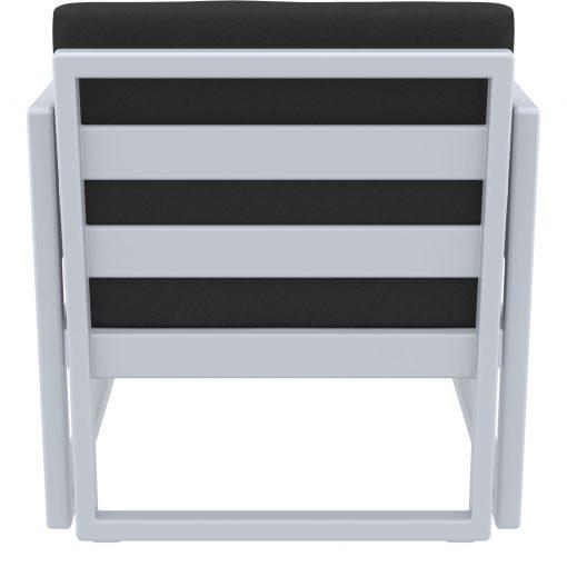 011 ml armchair silvergrey black back