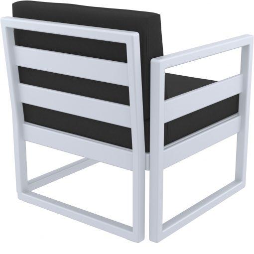 012 ml armchair silvergrey black back side