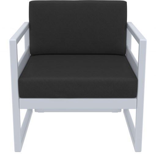 013 ml armchair silvergrey black front