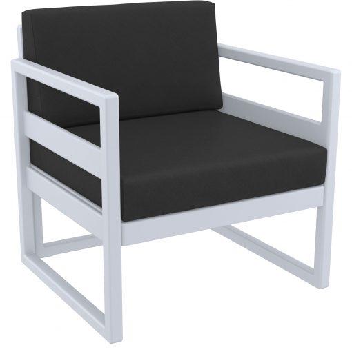 014 ml armchair silvergrey black front side