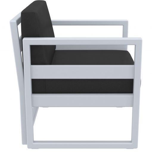 015 ml armchair silvergrey black side