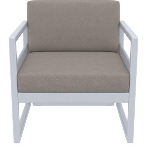 018 ml armchair silvergrey brown front