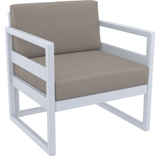 019 ml armchair silvergrey brown front side