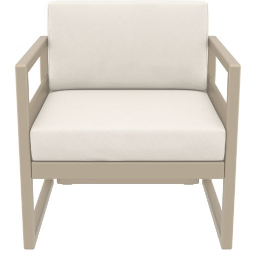 028 ml armchair taupe beige front