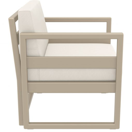 030 ml armchair taupe beige side