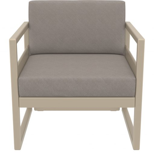 033 ml armchair taupe brown front