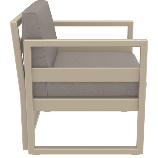035 ml armchair taupe brown side