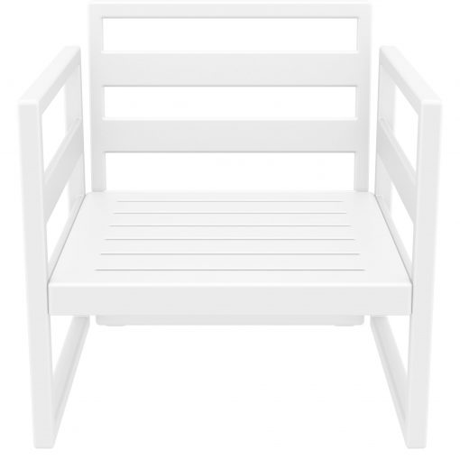 038 ml armchair white front