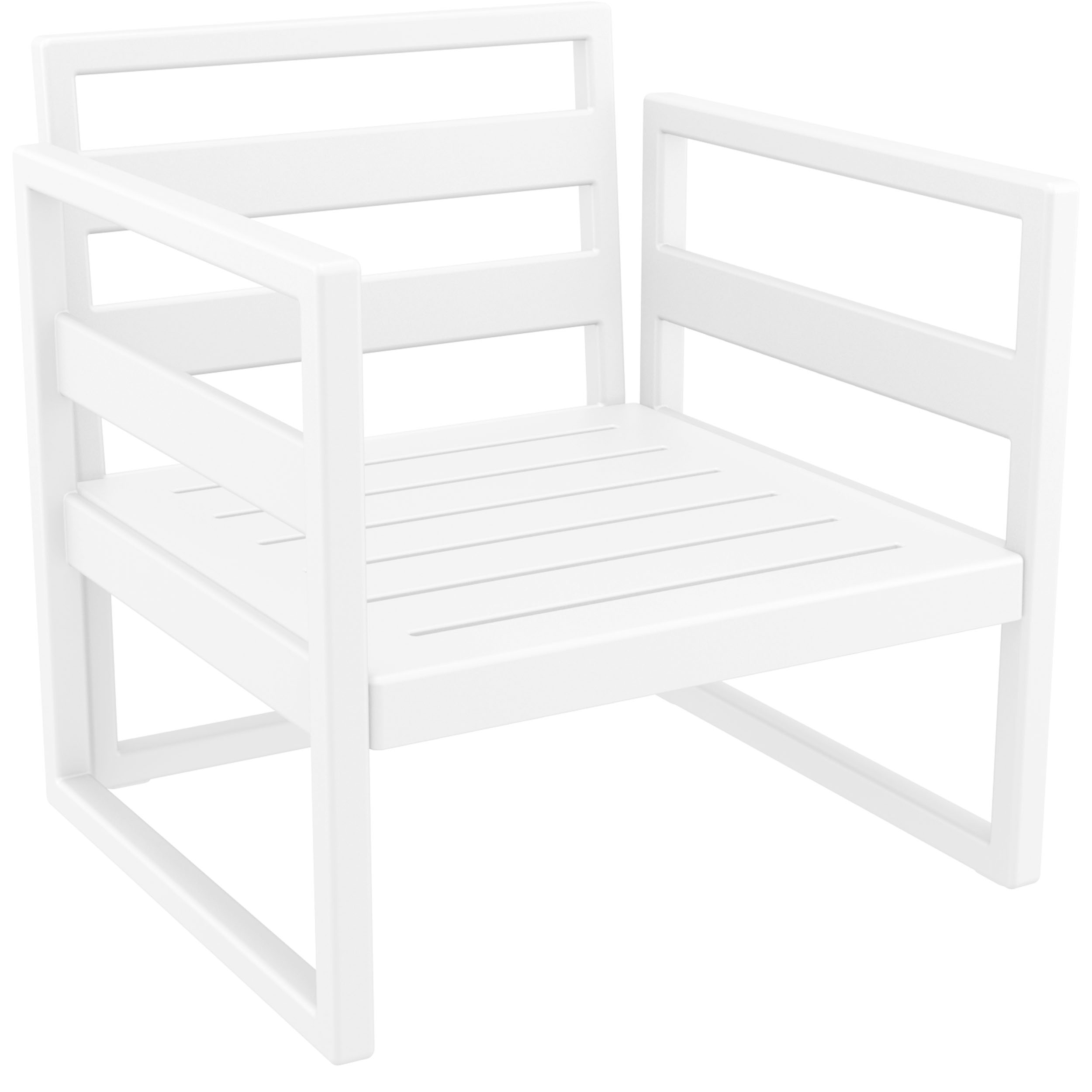 039 ml armchair white front side