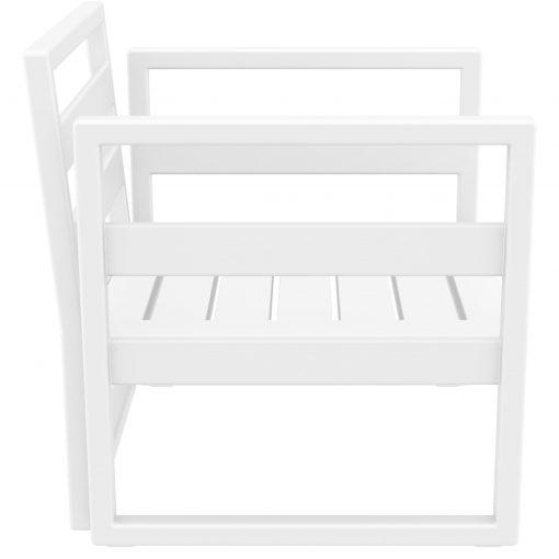 040 ml armchair white side