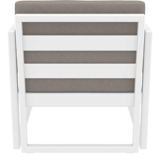 041 ml armchair white brown back