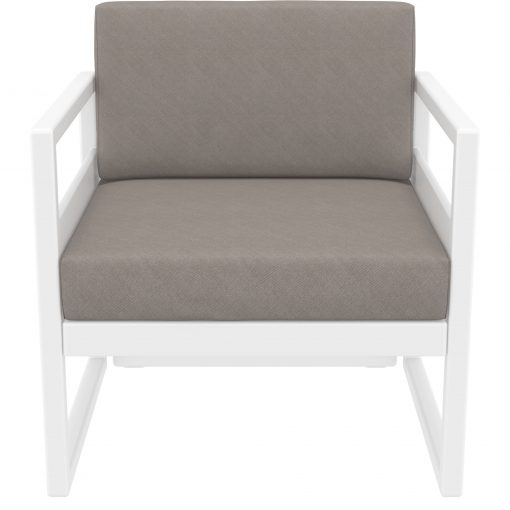 043 ml armchair white brown front