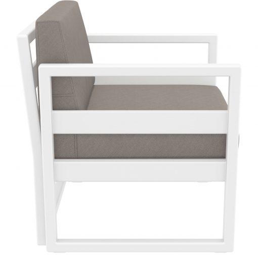 045 ml armchair white brown side