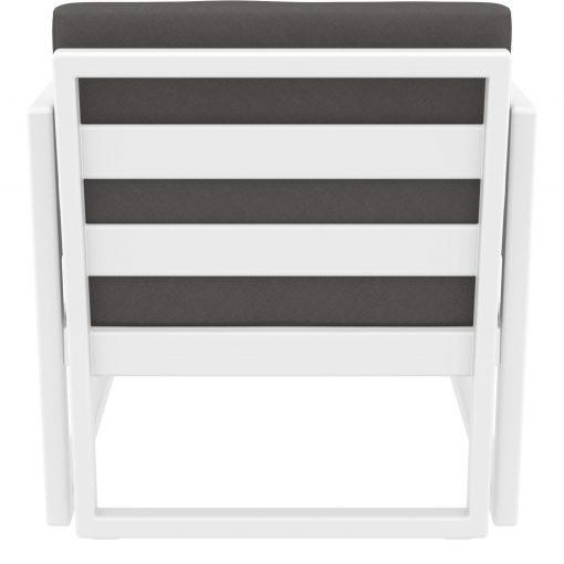 046 ml armchair white darkgrey back