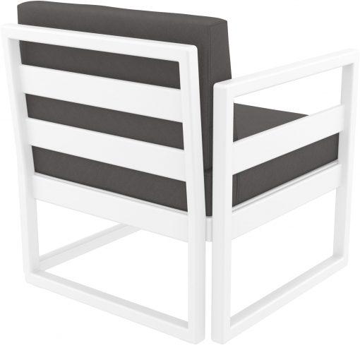 047 ml armchair white darkgrey back side