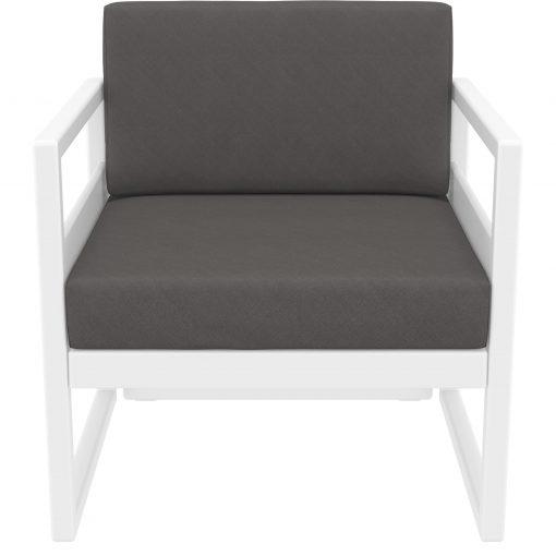 048 ml armchair white darkgrey front