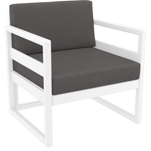 049 ml armchair white darkgrey front side