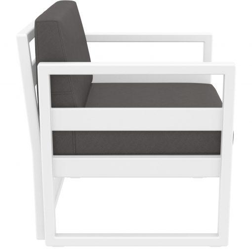 050 ml armchair white darkgrey side