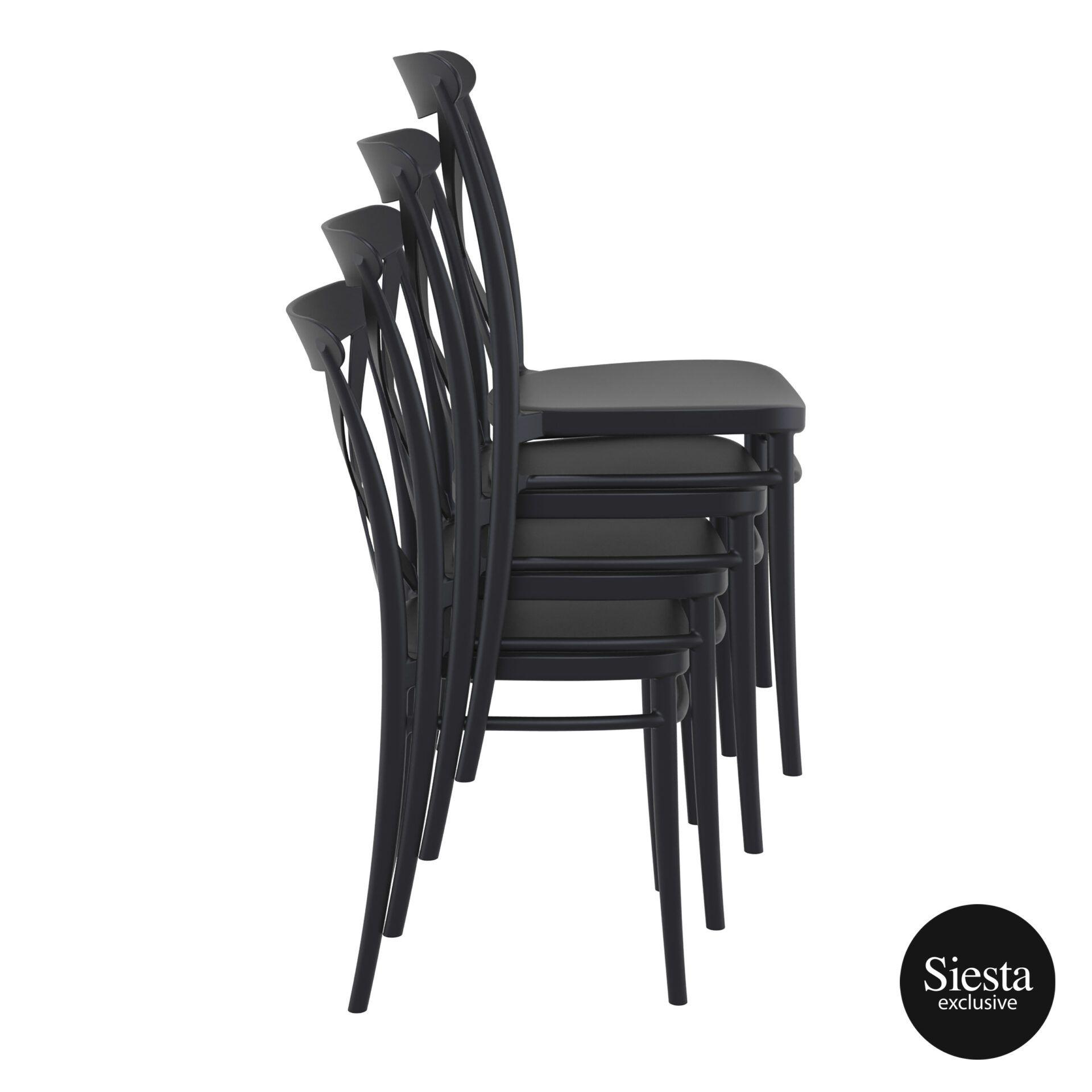 cafe polypropylene cross chair 2 stack 1