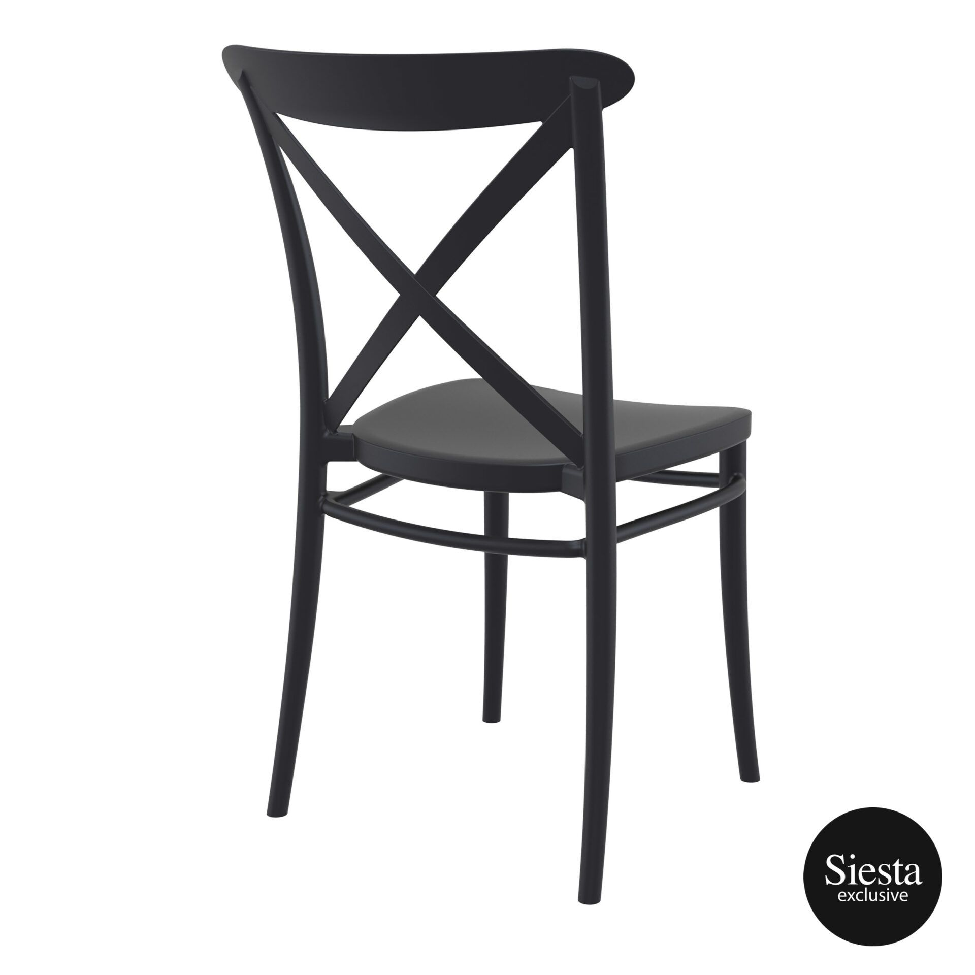 cafe polypropylene cross chair black back side 1 1