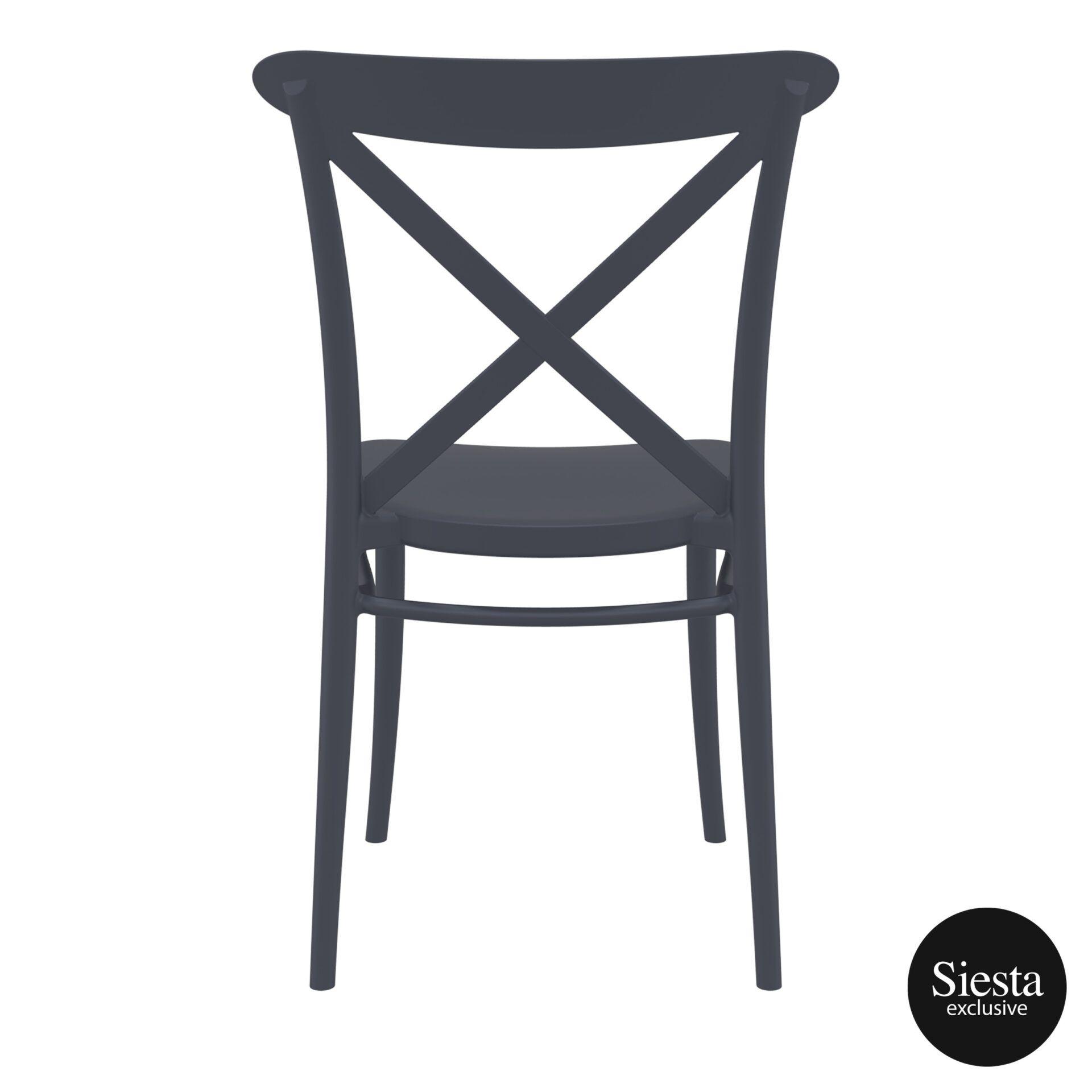 cafe polypropylene cross chair darkgrey back 3
