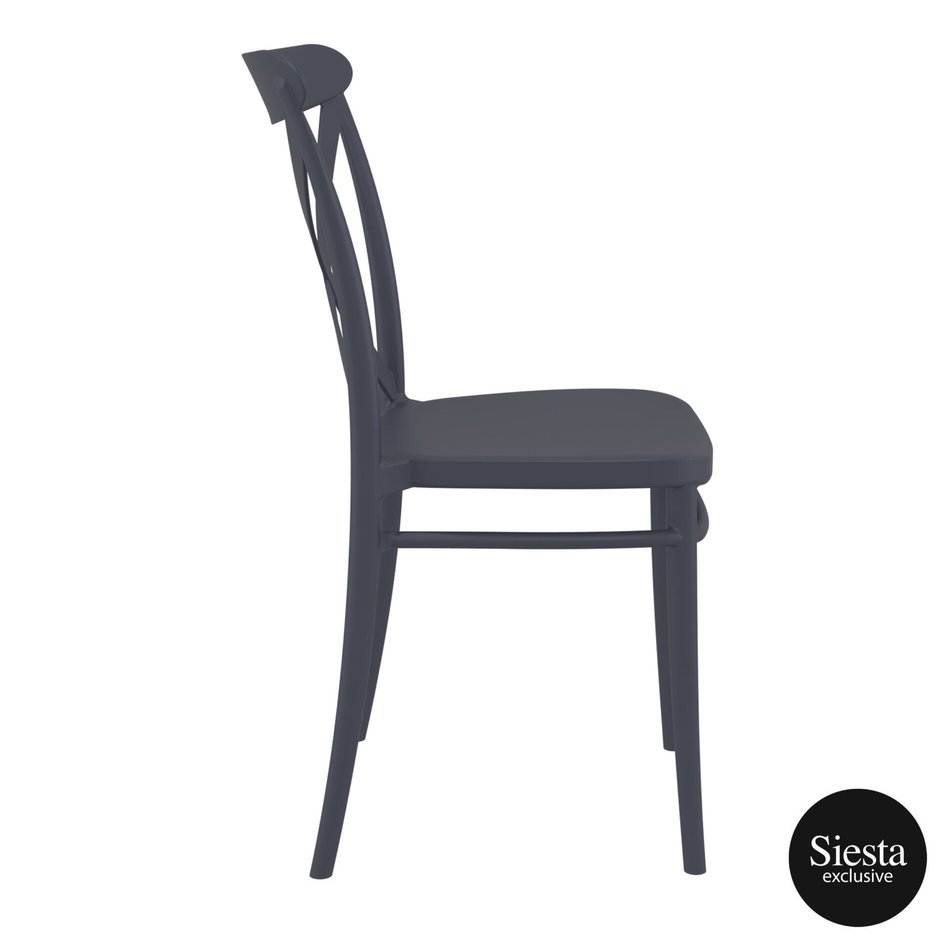 cafe polypropylene cross chair darkgrey side 3