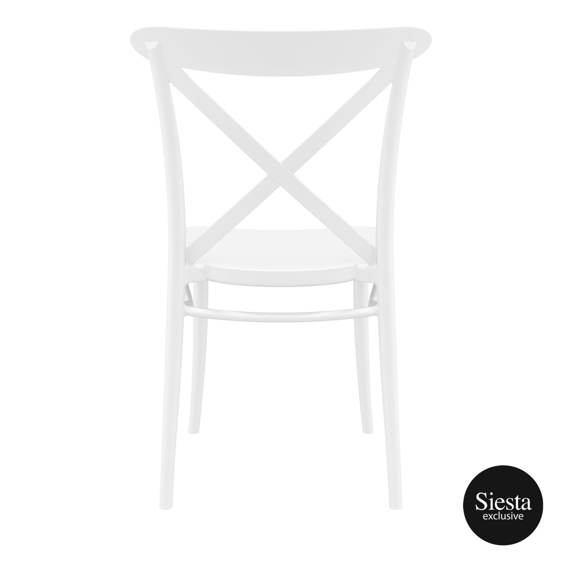 cafe polypropylene cross chair white back 1 1