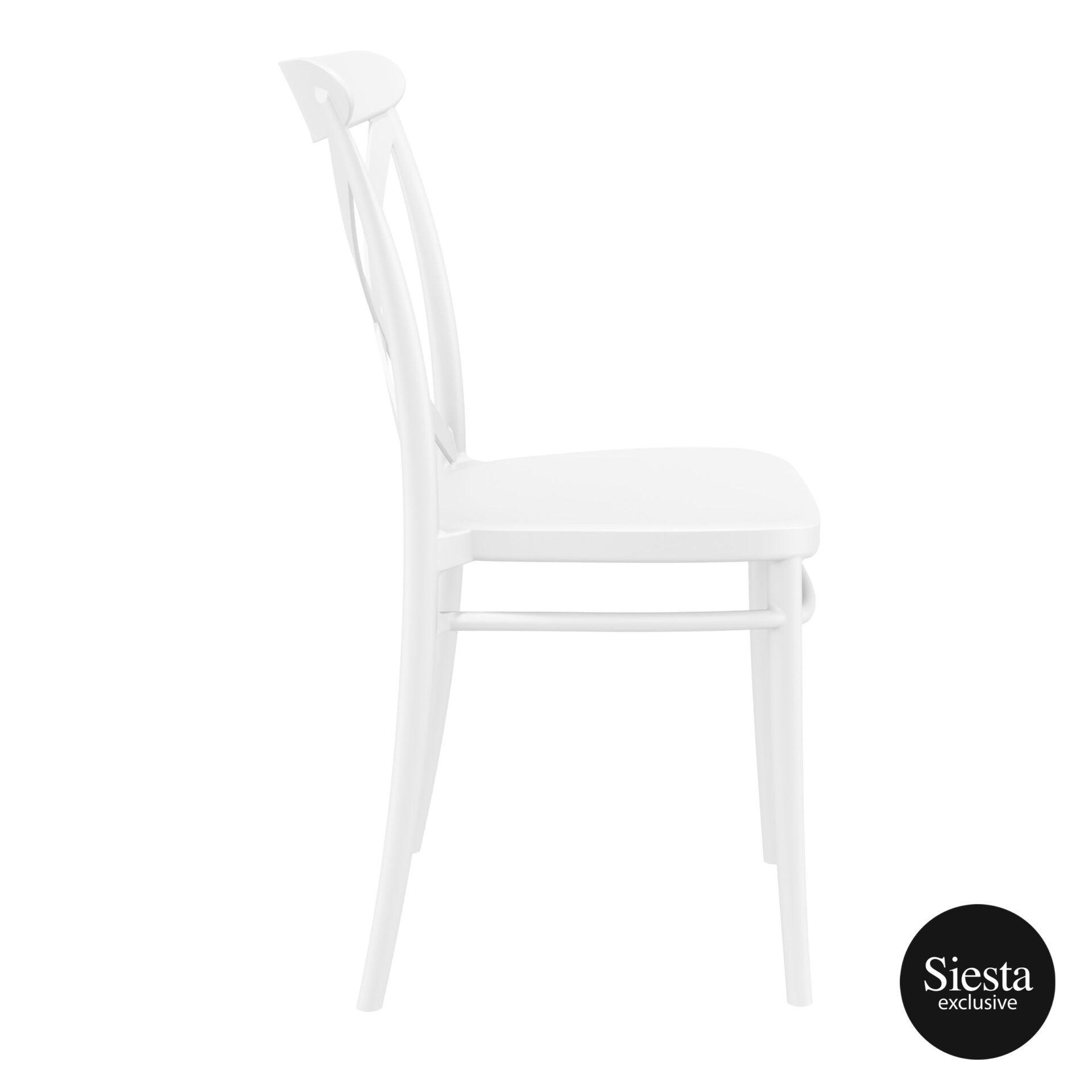 cafe polypropylene cross chair white side 1 1