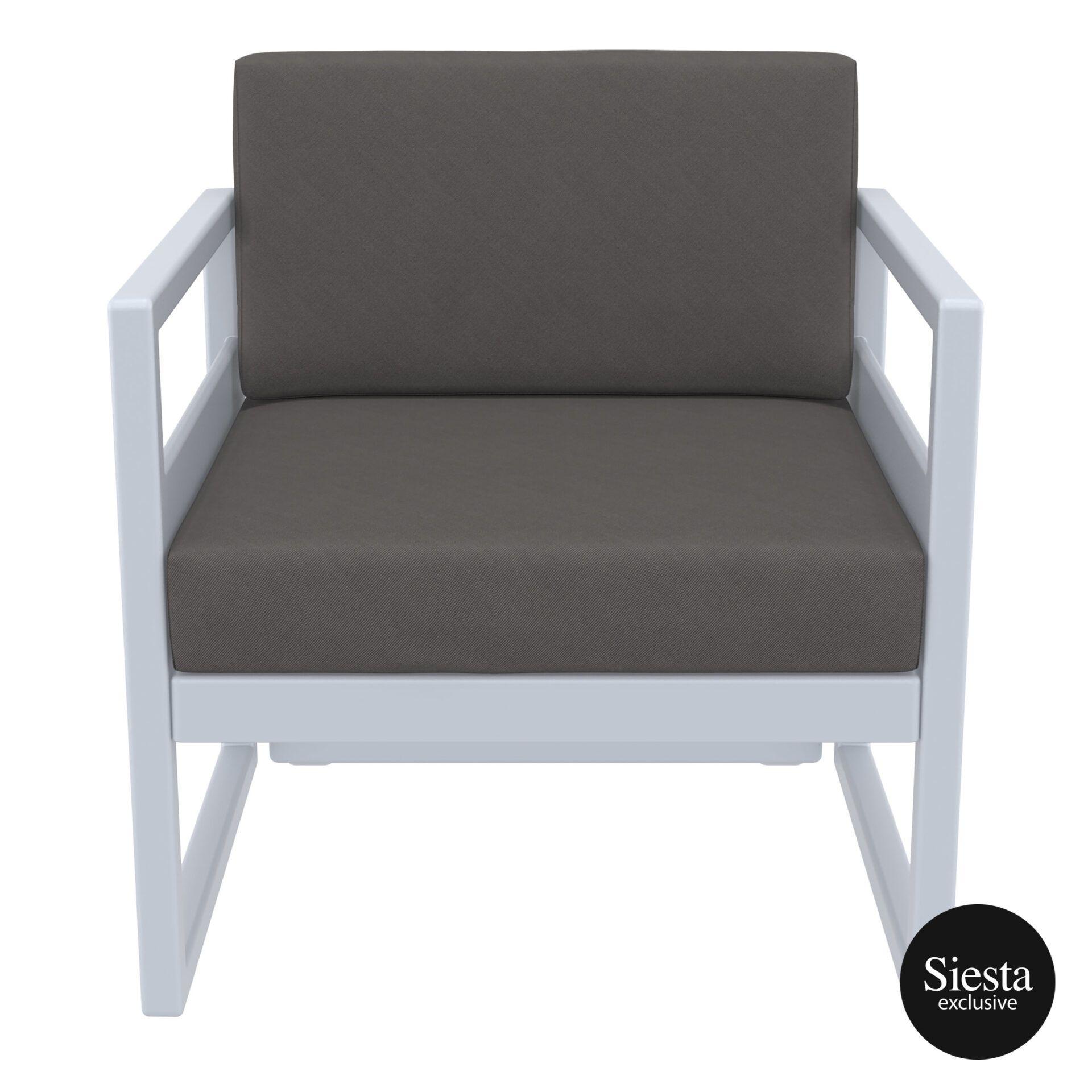 mykonos resort lounge armchair silvergrey darkgrey front 1