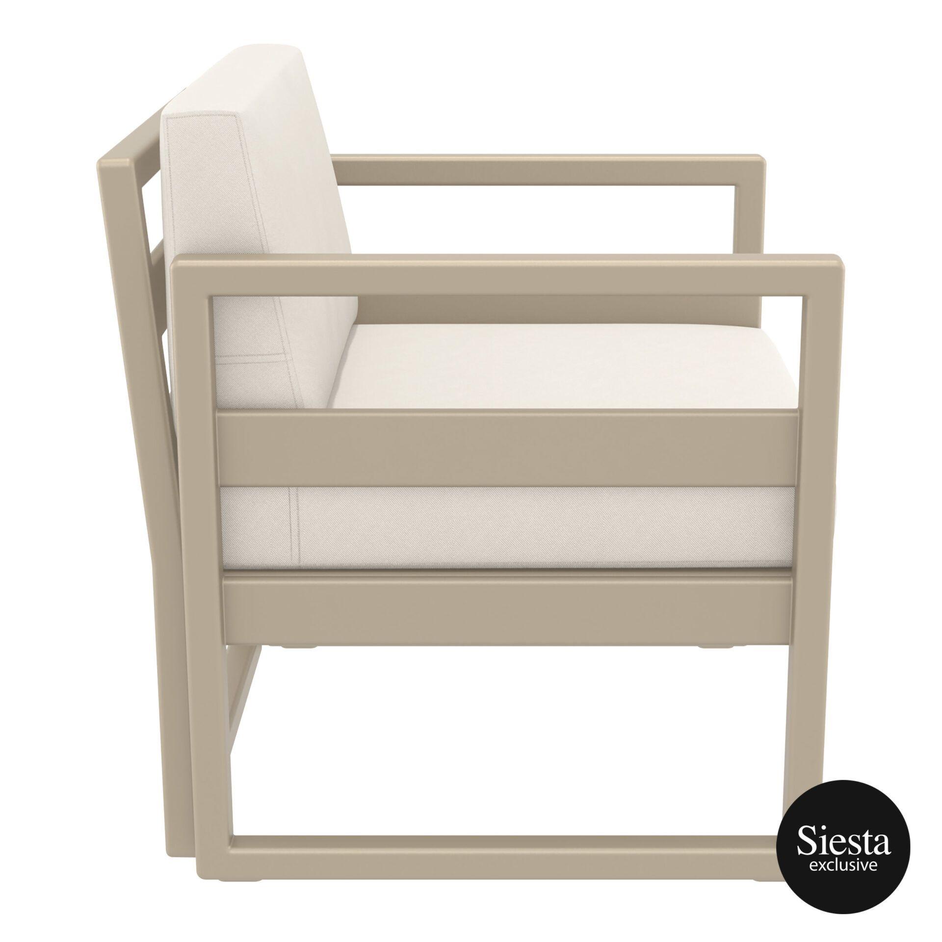 mykonos resort lounge armchair taupe beige side 1