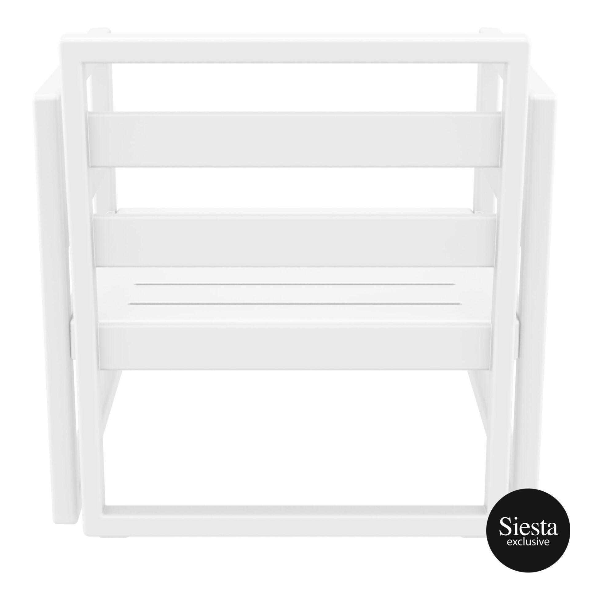 mykonos resort lounge armchair white back 1