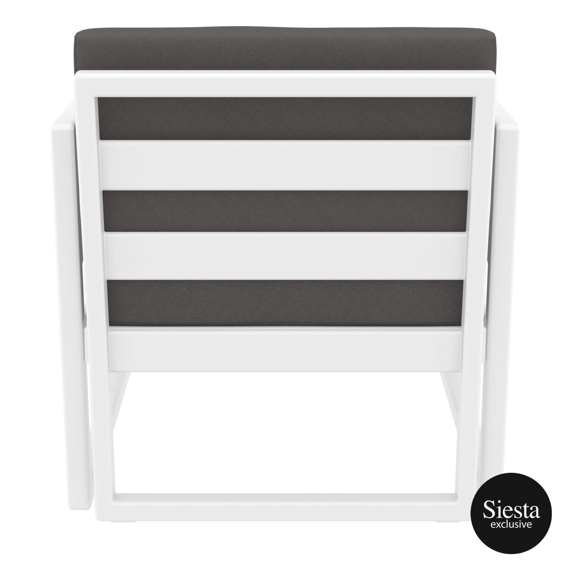 mykonos resort lounge armchair white darkgrey back 1