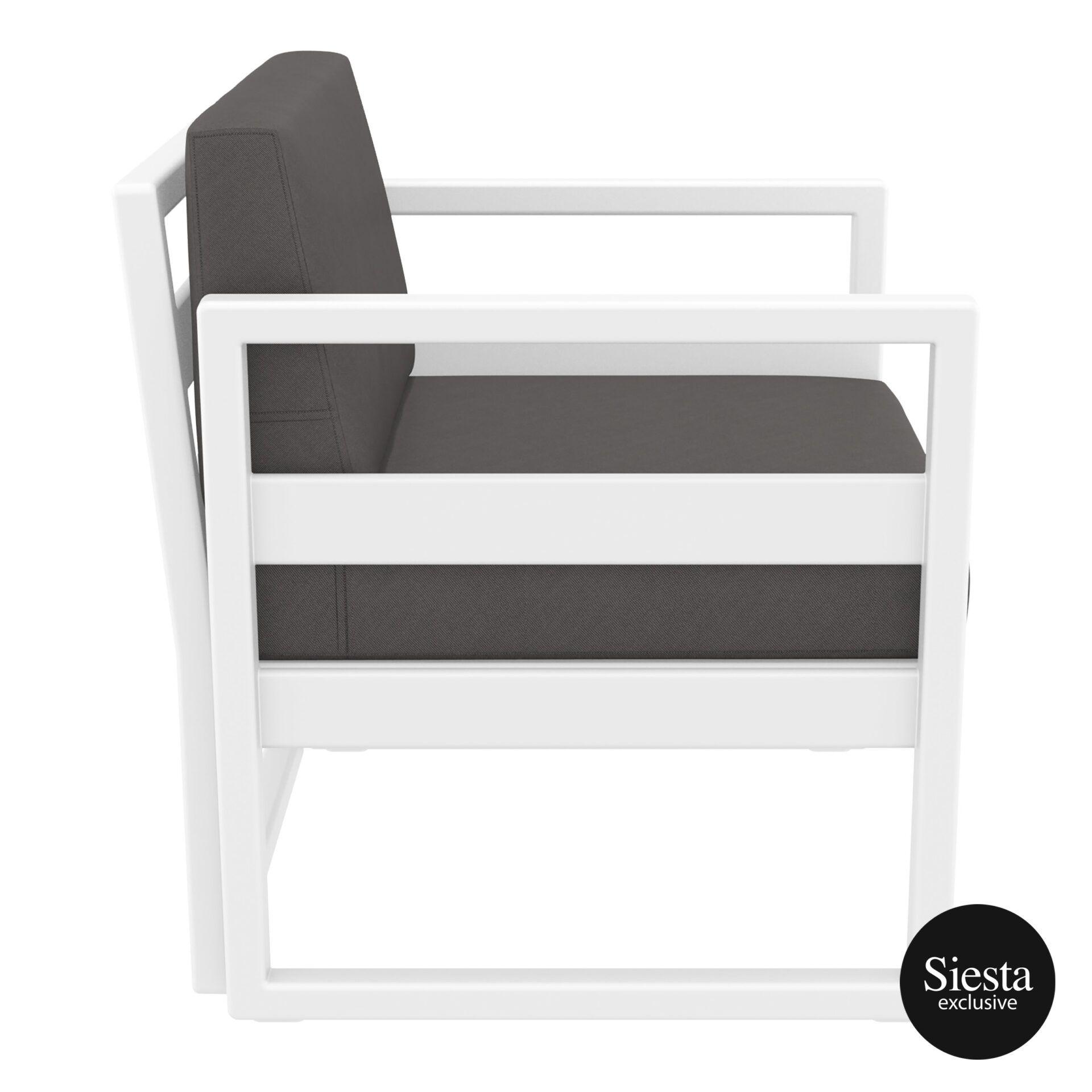 mykonos resort lounge armchair white darkgrey side 1