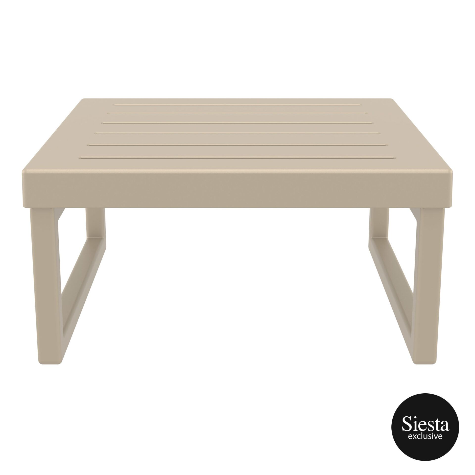 mykonos resort lounge table taupe front 2