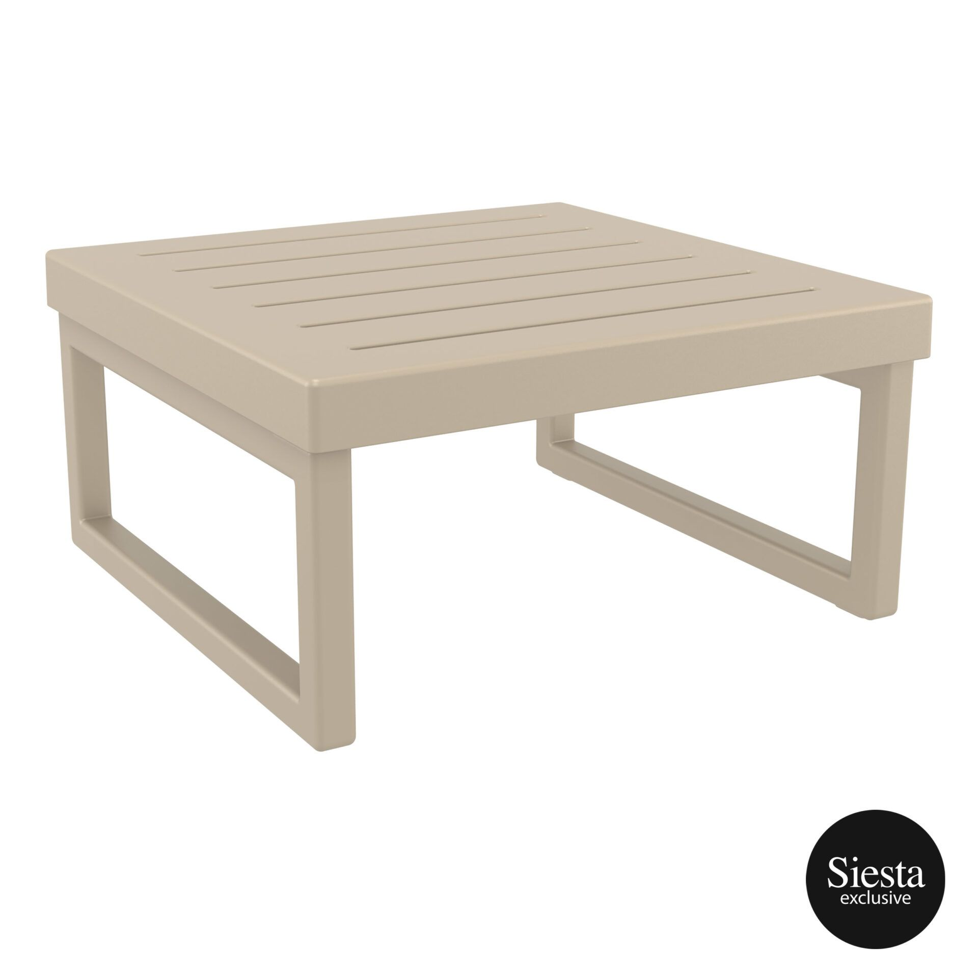mykonos resort lounge table taupe front side 2