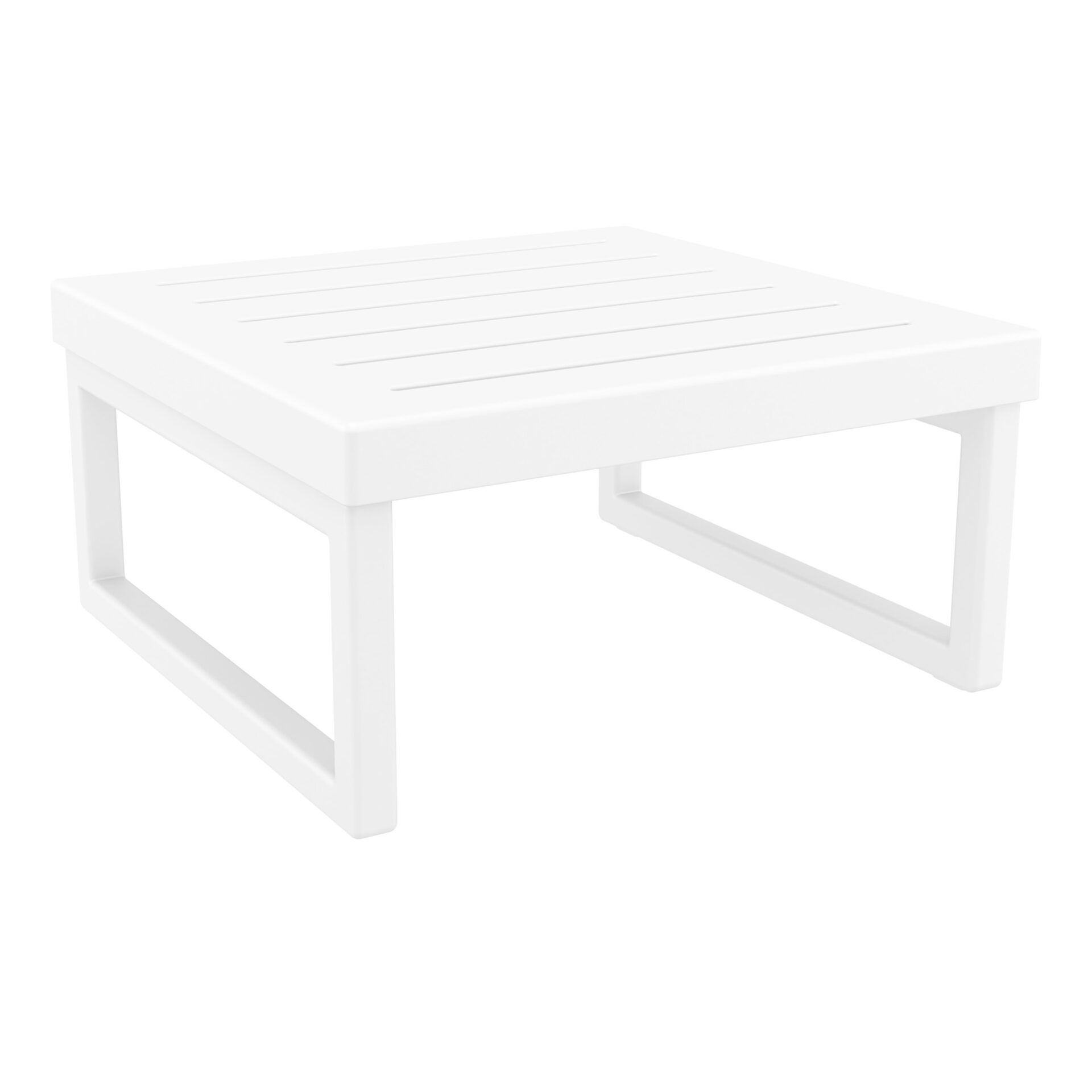 mykonos resort lounge table white front side 1