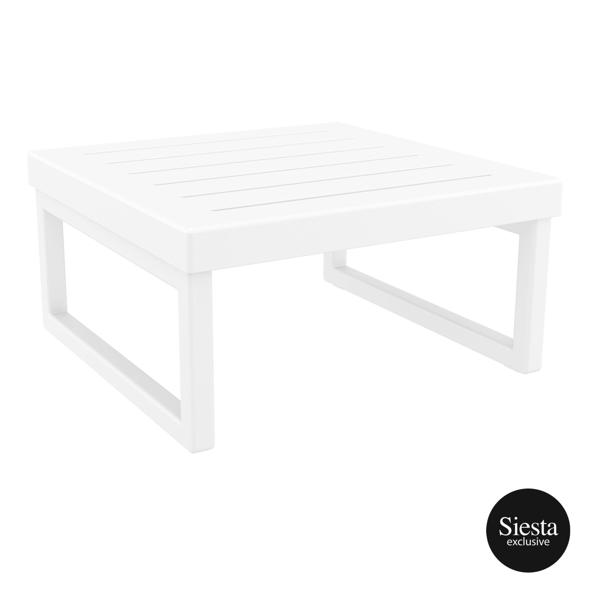 mykonos resort lounge table white front side 2