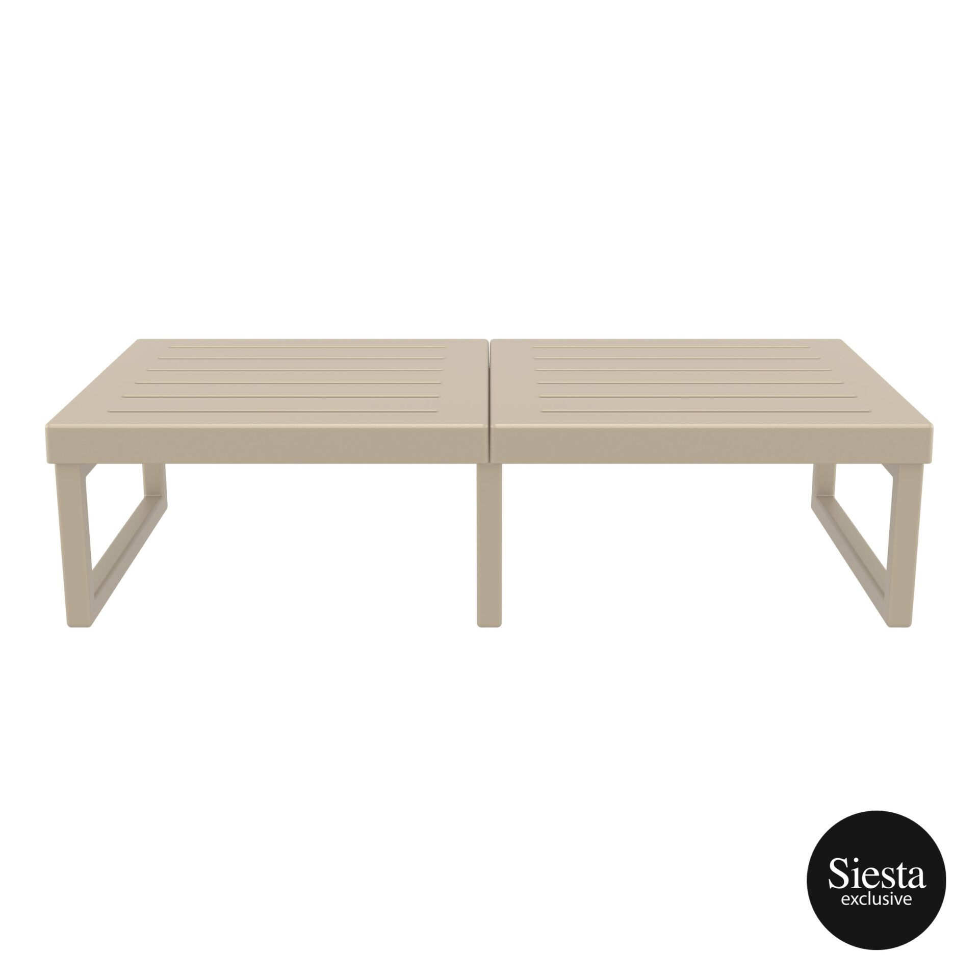 mykonos resort lounge table xl taupe front 2